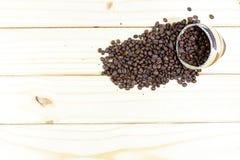De geroosterde Bonen van de Koffie stock afbeelding