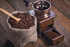 De geroosterde Bonen van de Koffie royalty-vrije stock foto's