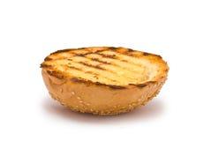 De geroosterde Bovenkant van het Hamburgerbroodje stock afbeeldingen