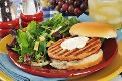 De geroosterde Hamburger van de Zalm stock foto