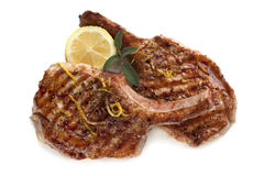 De geroosterde Koteletten van het Varkensvlees Royalty-vrije Stock Afbeelding