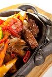 De geroosterde Pan van het Vlees Stock Afbeelding