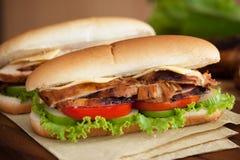 De geroosterde Sandwich van de Kip Royalty-vrije Stock Afbeelding