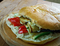 De geroosterde Sandwich van Ratatouillemuffuletta Royalty-vrije Stock Foto's
