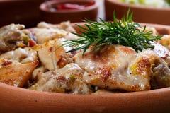 De geroosterde stukken van het kippenvlees royalty-vrije stock afbeeldingen
