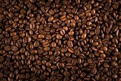 De geroosterde textuur van koffiebonen Royalty-vrije Stock Foto's
