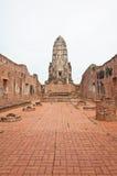 De geruïneerde oude tempel bouwt van baksteen Royalty-vrije Stock Fotografie