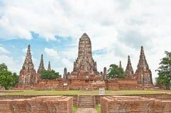 De geruïneerde oude tempel bouwt van baksteen Royalty-vrije Stock Foto's