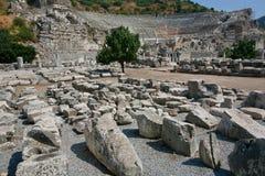 De geruïneerde stad van Ephesus in Turkije, baseerde BC op 10de eeuw Royalty-vrije Stock Foto's