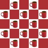 De geruite Achtergrond van de Koffie Stock Afbeelding