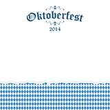 De gescheurde document achtergrond van Oktoberfest met tekst Oktoberfest 2014 Royalty-vrije Stock Fotografie