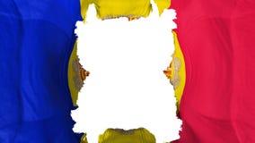 De gescheurde vliegende vlag van Andorra stock illustratie