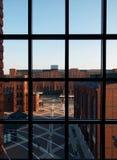 De geschiedenis van de vensterfabriek royalty-vrije stock afbeeldingen