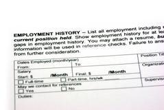 De geschiedenis van de werkgelegenheid Stock Foto's