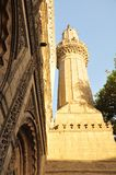 De geschiedenisdaglicht van de moskee Islamitisch architectuur stock foto