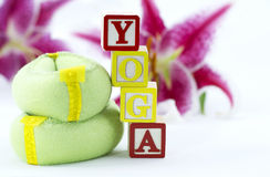 De Geschiktheid van de yoga Royalty-vrije Stock Afbeeldingen