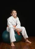 De geschiktheidsmeisje van de karate Stock Afbeelding