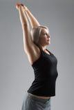 De geschiktheidsvrouw van het blondehaar Stock Foto