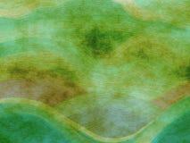 De geschilderde Groene Achtergrond Grunge van de Stijl Stock Foto