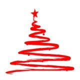 De geschilderde illustratie van de Kerstmisboom Stock Foto