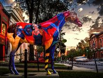 De geschilderde Lentes New York van Paardsaratoga Royalty-vrije Stock Fotografie
