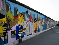 De geschilderde muur van Berlijn Stock Foto