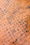 De geschilderde oranje industriële plaat van de metaaldiamant stock afbeeldingen