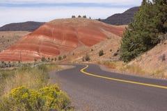 De geschilderde Staat de V.S. Noord-Amerika van Oregon van Heuvels Fossiele Bedden Royalty-vrije Stock Fotografie