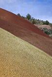 De geschilderde Texturen van Heuvels Stock Fotografie