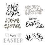 De geschreven kalligrafie van Pasen hand Hand getrokken tekst Christelijke beweging veroorzakend lettering Stock Afbeeldingen