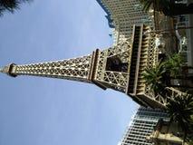 De gesimuleerde Toren van Eiffel, het Hotel van Parijs en Casino, Las Vegas royalty-vrije stock foto's