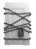 De gesloten deur Royalty-vrije Stock Foto