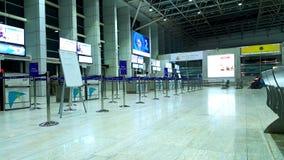 De gesloten poorten van het Luchthavenvertrek in Mumbai stock fotografie