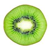 De gesneden macro van het kiwifruit Royalty-vrije Stock Fotografie
