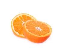 De gesneden oranje helften Royalty-vrije Stock Foto
