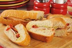 De gesneden sandwich van Turkije stock afbeelding