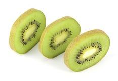 De gesneden segmenten van de kiwi fruit Royalty-vrije Stock Afbeelding