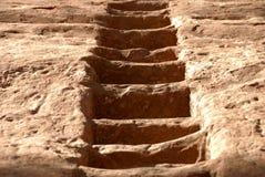 De gesneden Trap van het Zandsteen Stock Afbeelding