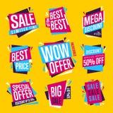 De geïsoleerde reeks van de verkoopbanner vector Royalty-vrije Stock Afbeelding