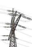 de geïsoleerde toren van transmissielijnen - Royalty-vrije Stock Afbeelding
