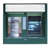 De geïsoleerdem Donkergroene Machine van ATM Stock Afbeelding