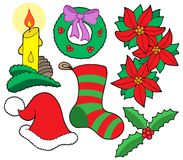 De geïsoleerder beelden van Kerstmis Royalty-vrije Stock Foto's