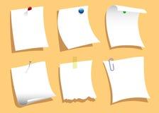De Gespelde Reeks van de nota Documenten Stock Foto