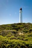 De gespleten Vuurtoren van het Punt bij Aireys Inham, Australië stock foto
