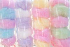 De gesponnen suiker Saimai is Thais-Stijlsuikergoed in Thailand stock fotografie