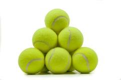 De gestapelde Ballen van het Tennis Royalty-vrije Stock Fotografie
