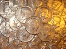 De gestapelde halve dollars van Kennedy Royalty-vrije Stock Afbeeldingen