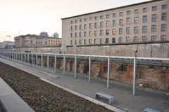 De Gestapo-ruïnes in Berlijn (de Topografie van Verschrikking) Royalty-vrije Stock Foto's