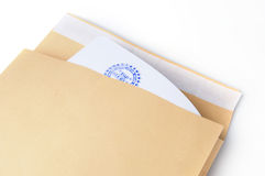 De gestempelde Bovenkant van het document envelop - geheim Royalty-vrije Stock Afbeelding