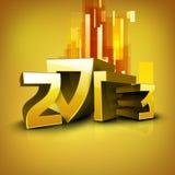 De gestileerde achtergrond van het Nieuwjaar van 2013 Gelukkige. Royalty-vrije Stock Foto